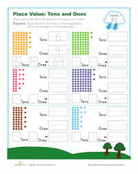 tens and ones tens and ones place values and worksheets