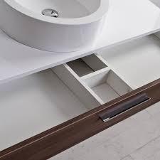 lusso stone edge slim drawer wall mounted bathroom vanity unit