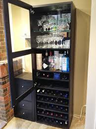 Wine Cabinet With Cooler by Besta Wine Rack And Liquor Cabinet Ikea Hackers Ikea Hackers