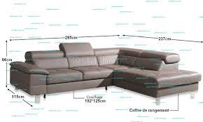 canapé d angle couchage quotidien canape d angle convertible avec coffre rangement en cuir pu gris zoe