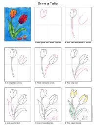 draw a tulip watercolor techniques watercolor and tutorials