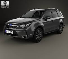 subaru forester 2016 white subaru forester xt touring 2016 3d model hum3d