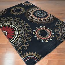 Area Rugs 5 X 8 Delectably Yours Com City Kaleidoscope Contemporary Black Area Rug
