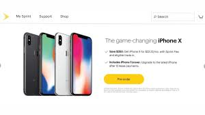 sprint website still showing iphone x shipping for launch day t
