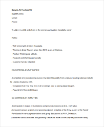 Co Curricular Activities In Resume Sample Sample Hostess Resume 7 Examples In Word