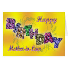 mother in laws birthday greeting cards zazzle