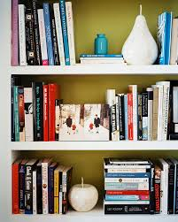 Bookshelf Organization Fruit Decor Photos Design Ideas Remodel And Decor Lonny