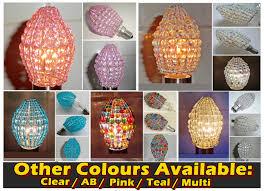 Beaded Pendant Light Shade Crystal Chandelier Inspired Glass Beaded Lightbulb Candle Bulb