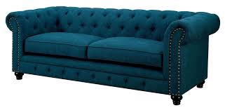Traditional Tufted Sofa by Stanford Dark Teal Fabric Sofa For The Home Pinterest Teal
