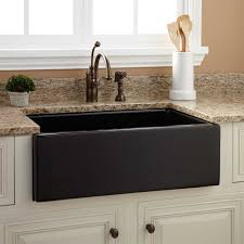 Porcelain Kitchen Sinks by Sinks Smooth Reversible Black Porcelain Apron Sink Granite