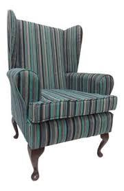 Chenille Armchair Wing Back Queen Anne Chair Cream Lana Tartan Fabric In Home