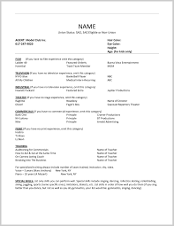 free acting resume template fantastic free acting resume template 288851 resume ideas