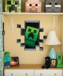 minecraft bedroom furniture minecraft furniture bedroom a simple minecraft creature wall cling set zulily