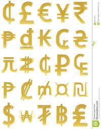 gold currency symbols stock illustration image 60015915