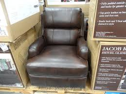 Glider Swivel Chairs Synergy Jacob Leather Swivel Glider Recliner