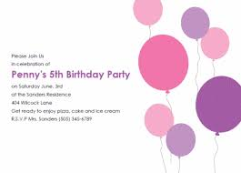 template for making birthday invitations free bday invt bllns pink png