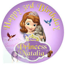 sofia the cake topper sofia the cake topper personalised princess printed