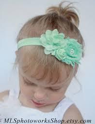 mint green headband cool mint green baby girl headband pastel mint green shabby