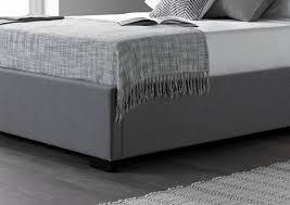 salerno cool grey upholstered bed frame upholstered beds beds
