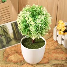 artificial topiary buxus tree u0026 ball plants pot garden home decor