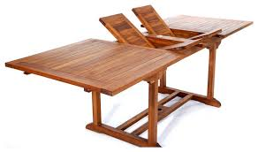 Folding Patio Dining Table 8ft Teak Patio Extension Table With Foldable Butterfly Leafs