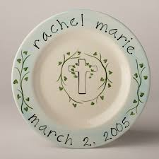 personalized plate personalized plate christening featured at babybox