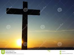 cross of christ to the sunset stock photo image 10594040