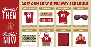 49ers unveil some solid stadium giveaways niners nation