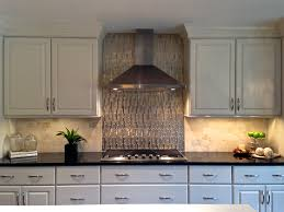Stainless Steel Kitchen Backsplash by Black And White Kitchen Viking Appliances Gold Glass And