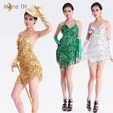 latin dress gold and silver ballroom dress for women latin dance