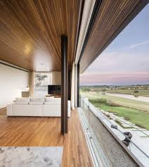 interior farmhouse contemporary open plan tv living room wood