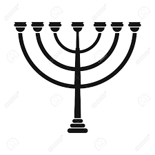 simple menorah gold hanukkah menorah simple icon isolated on white background