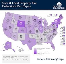 Map States Monday Map State U0026 Local Property Tax Collections Per Capita