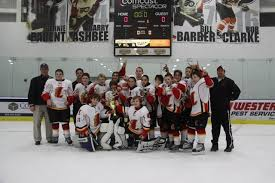 hockey flames win flyers youth thanksgiving tournament