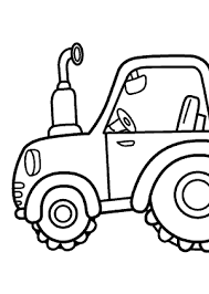 tractor transportation coloring pages kids printable free