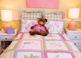 toddlers bedroom pretty pink toddlers bedroom stock photo image of pillows inside