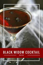 spooky halloween cocktail recipe black widow cocktail