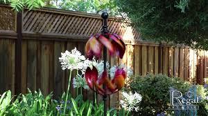 Kinetic Garden Art Vertical Spinner Double Flame Kinetic Stake Youtube