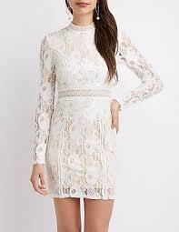 white dress white dress chiffon cut out lace russe