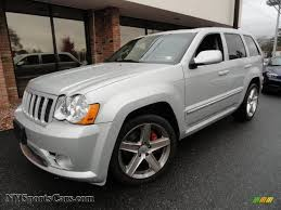 2010 jeep grand cherokee srt8 4x4 in bright silver metallic