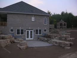 walk in basement walkout basement retaining wall retaining walls 42 created a