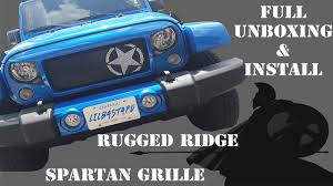 jeep grill skin spartan grille by rugged ridge unboxing and install on u002716 jku