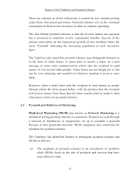 report of the taskforce on pyramid schemes