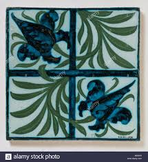 tulip and trellis design tile by morris u0026 co england 1860 1870