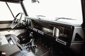 vintage range rover interior land rover defender 90 gets restomodded by icon video