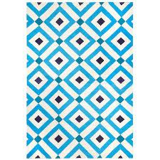 Reversible Rugs Crawford Reversible Peruvian Llama Flat Weave Blue Rug 8 X 10