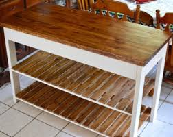 wood kitchen island kitchen island table etsy