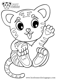 tiger outline coloring page inside without stripes coloring page