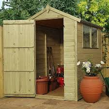 6ft x 4ft waltons shiplap pressure treated apex wooden garden shed