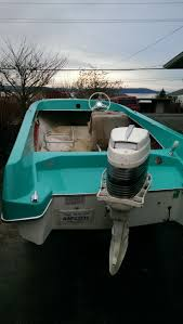 1967 wacanda boat after color sanding all the turquoise gelcoat